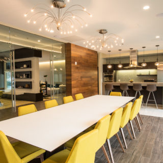 conference room at the residences of midtown park apartments