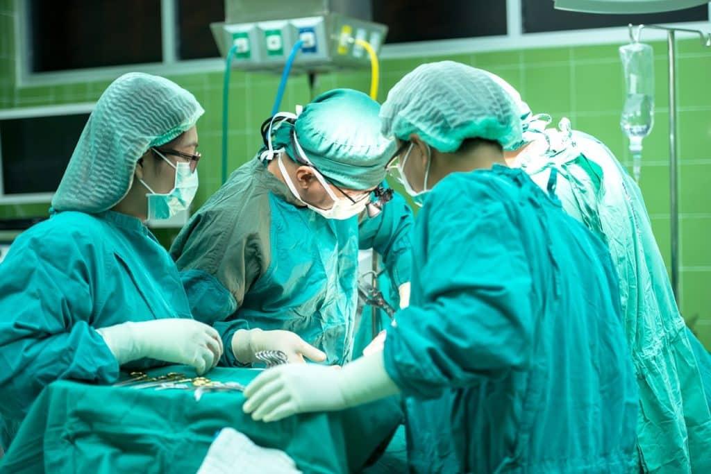 Doctors performing surgery at hospital near Wilmington, DE